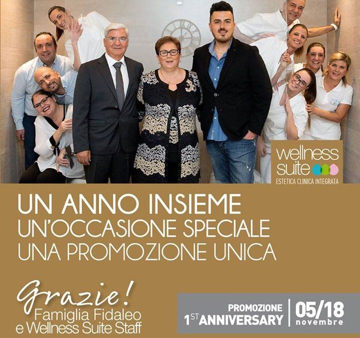 PRIMO ANNIVERSARIO | WELLNESSSUITE | FONDI