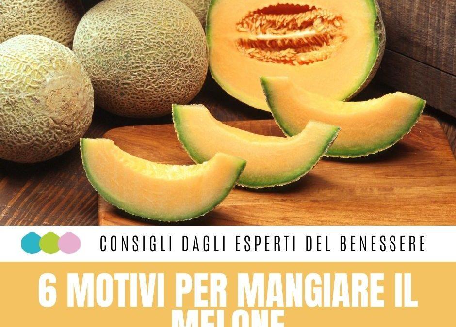 6 MOTIVI PER MANGIARE IL MELONE  Non tutti sanno che il melone è il frutto fresc…